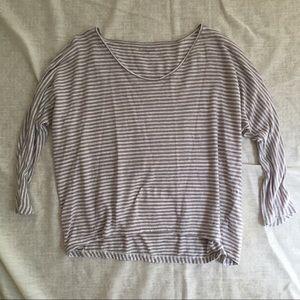 Striped Linen Dolman